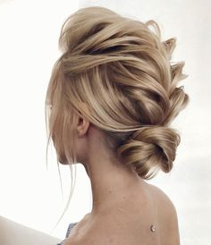 Loose & Romantic Wedding Hair from Tonystylist ~ cool edgy braided updo