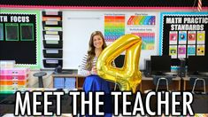 Meet the Teacher Vlog Letter To Teacher, Meet The Teacher, 4th Grade Classroom, Primary Classroom, Pocketful Of Primary, Welcome To School, Lakeshore Learning, Really Good Stuff, Back To School Night