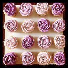 Raspberry Jasmine Cupcakes. Interesting buttercream method.