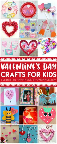 20+ Easy Valentine Crafts for Kids that are perfect for classrooms, parties, Scout meetings, family fun nights, and more! Fun Valentine's Day crafts for kids of all ages!  via @hiHomemadeBlog