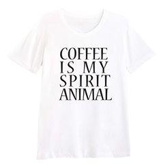 T-Shirt Coffee is my Spirit Animal (Black) Funki Shop FUN... http://www.amazon.com/dp/B01953JOTK/ref=cm_sw_r_pi_dp_uwrvxb1YH80C6
