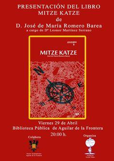 29/04 20:00 @aguilarfrontera #presentación #novela #RomeroBarea #MitzeKatze @Amargord