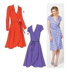 Kwik Sew K3489  Think I found my wrap dress. Would look great with the ruffle ;o)