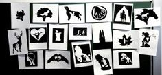 Double figures created with silhouettes