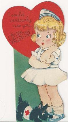 Scottie mends a broken heart ~ Vintage Valentine