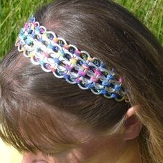 Example of soda tabs headband.