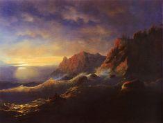 Ivan Aivazovsky - Tempest. Sunset, 1856
