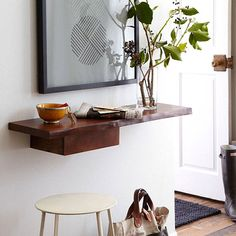 Make a shelf into much more... it adds such a cool element to an otherwise bland boring wall space