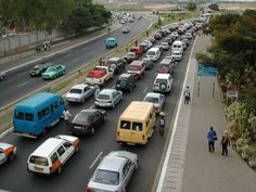 Typical rush hour in Accra