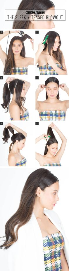 SLEEK BLOWOUT HAIR TUTORIAL: Sick of wearing your hair the same way everyday? You're not alone. But thanks to this tutorial from hair pro Ryan Trygstad, you don't have to. Now, you can switch up your style with ease. Click through to learn how to create this super easy style at home! This hairstyle is sexy and gorgeous — perfect for dates, fun events, work and internships, or really anything!