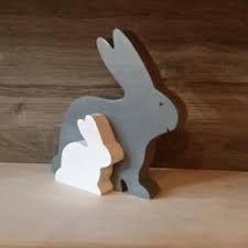 """Résultat de recherche d'images pour """"lapin paques bois"""""""