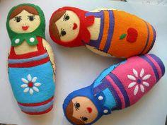 Felt Matryoshka Nesting Dolls