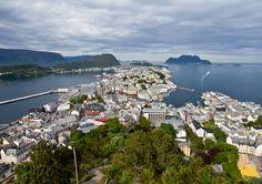 Norsko - pohled na Alesund