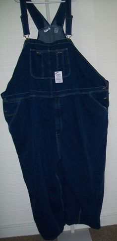 "SOLD! NEW Mens King Size Bib Denim Jean Overalls Carpenter 100% Cotton W 72"" L 25"" NWT #KingSize #Overalls"