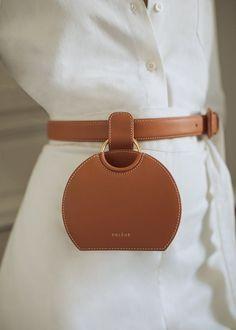Number Six Belt Bag - Terre de Sienne - Polène - Trend Femininer Stil 2019 Unique Handbags, Popular Handbags, Fall Handbags, Cheap Handbags, Cheap Bags, Handbags Online, Fashion Handbags, Tote Handbags, Purses And Handbags