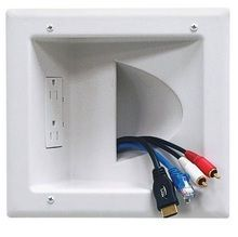Flat Screen TV  Ultra Low Profile Wall Flat Mount Recessed Plug - TekSpree