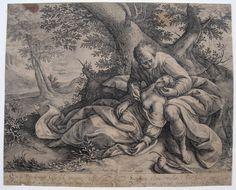 Crispijn de Passe nach Moreelse: Cephalus und Procris Kupfer 1616, Hollstein 71