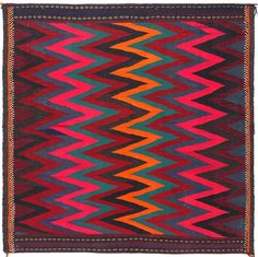 Love the neon pink in this playful kilim rug!