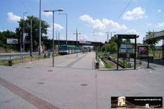 Budapest Közvágóhíd 07.07.2013 - die Endhaltestelle der Linie 1 inmitten der Autobahn