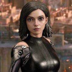 Alita: Battle Angel - Prime 1 Statue by Adam Fisher Adam Fisher Freelance Chara. Alita Movie, Alita Battle Angel Manga, Angel Movie, Female Cyborg, Maid Cosplay, Female Superhero, Digital Portrait, About Time Movie, Cultura Pop