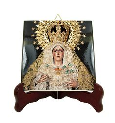 Now on #etsy: Catholic gifts - Virgin of Hope of Macarena - devotional icon on tile #catholicgifts #macarena #devotional #virginofmacarena http://etsy.me/2iUeRQ4
