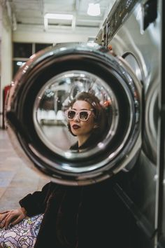 Want to have your own laundromat styled photoshoot Photo Portrait, Creative Portrait Photography, Photography Editing, Mobile Photography, Amazing Photography, Portrait Photographers, Photography Business, Photography Backdrops, Street Photography