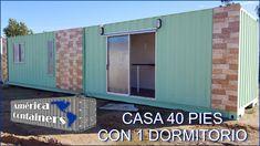 CASA CONTAINER 40 PIES - OFERTA DE ENTREGA INMEDIATA Shed, Outdoor Structures, Outdoor Decor, Youtube, Shotguns, Yurts, Blue Prints, Youtubers, Barns
