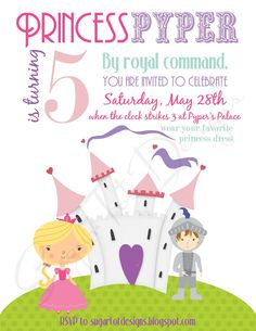 Princess party invite.