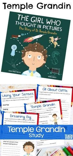 Temple Grandin Unit Study- based on the book The Girl Who Thought in Pictures via Autism Activities, Science Activities For Kids, Hands On Activities, Kindergarten Activities, Science Projects, Book Activities, Preschool, Science Experiments, Thinking In Pictures
