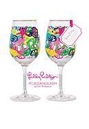 Lilly Pulitzer® Acrylic Set of 2 Wine Glass Chiquita Bonita