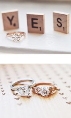 "Cute way to say ""I do"" with Scrabble letters #weddinginspiration"