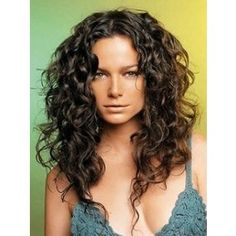 curly long hair layers at the crown | Hairstyle's, Makeup, & Beauty / Great long layered curly hair.