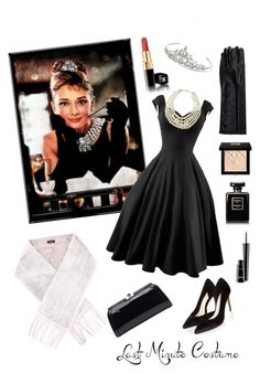 """""""Last Minute. Audrey Hepburn."""" by anastassiyan ❤ liked on Polyvore featuring Nina, Monsoon, Yves Salomon, WithChic, Emily & Ashley, MKF Collection, Chanel, Givenchy and MAC Cosmetics"""