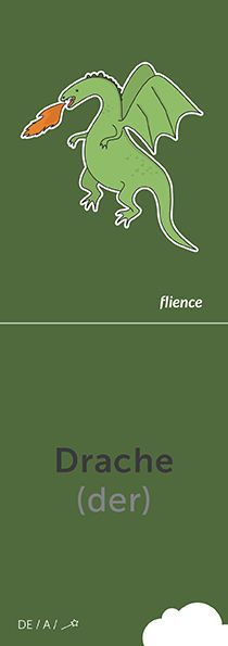 Drache #CardFly #flience #fables #german #education #flashcard #language