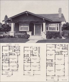 This S bungalow floor plans 10 capture depiction forward gable cottage style plan no l 15 photos and collection about 26 bungalow floor plans imaginative. Bungalow floor plans single story bungalow Plans images that are related to it Craftsman Bungalow House Plans, Bungalow Floor Plans, Craftsman Bungalows, House Floor Plans, Craftsman Homes, House Plans With Pictures, Companies House, Vintage House Plans, 1920s House