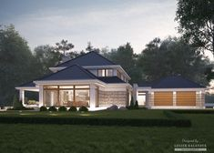 House with attic in modern style with usable area House with a large garage. Minimum size of a plot needed for building a house is m. Home Building Design, Building A House, Style At Home, Modern Bungalow House, Dream House Plans, Facade House, Beautiful Bedrooms, Home Fashion, Home Projects
