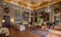 Palazzo Barbaro's traditional interiors have glamour in spades. Image Via: Slow Venice