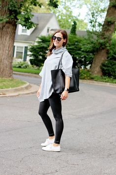 jillgg's good life (for less)   a west michigan style blog: my everyday style: two ways to style leather-look leggings for fall!