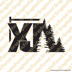 Jeep Cherokee XJ with Trees Decal by GraphicForest on Etsy