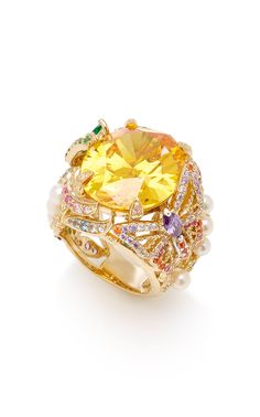 Citrine Swallowtail ring by Anabela Chan