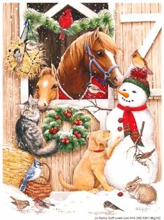 Kathy Goff art- Christmas time