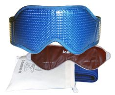 Sleep Mask JAMWA-Is Marine Blue, Included Germanium Eye-Gel Pack and Pouch for Carrying/Storage