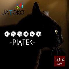 Black Friday na jatoko.pl! Zrób sobie prezent ;) #czarny #piatek #blackfriday #czarnypiatek #kot #blackcat #czarnykot #10procent #piateczek #weekend #jatoko #jatokopl #jatokoshop #catstagram #cat #sklepinternetowy