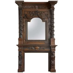 Monumental Antique French Figural Fireplace   From a unique collection of antique and modern fireplaces and mantels at https://www.1stdibs.com/furniture/building-garden/fireplaces-mantels/