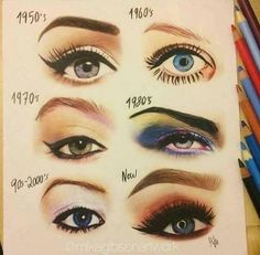 31 Vintage Makeup Trends That Are Back — Vintage Beauty Trends Make Up Love! Golden Eye Makeup, Smokey Eye Makeup, Eyeliner Makeup, Makeup Inspo, Makeup Inspiration, Makeup Style, Makeup Ideas, 1950s Style Makeup, Makeup Goals