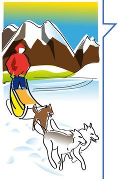Escursione con i cani da slitta nell'alta Valtellina