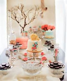 """Cute mix with chocolates scattered in   Baby Showers > Girl """"Tres Shabby Chic"""" Shower Brunch"""