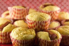 Corn Dog Muffins. State Fair food in your own home! Unfortunately, it's not on a stick. :(