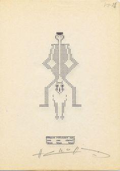 Henri Chopin, La crevette amoureuse, 1967-1975