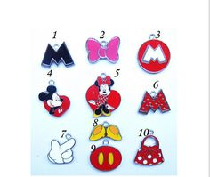 Cartoon Mickey and Minnie Charms Your Choice ~ Less Than 1 Dollar, Mickey and Minnie Fun Charms 1 pcs, Metal Charms, Jewelry… @etsy @etsy